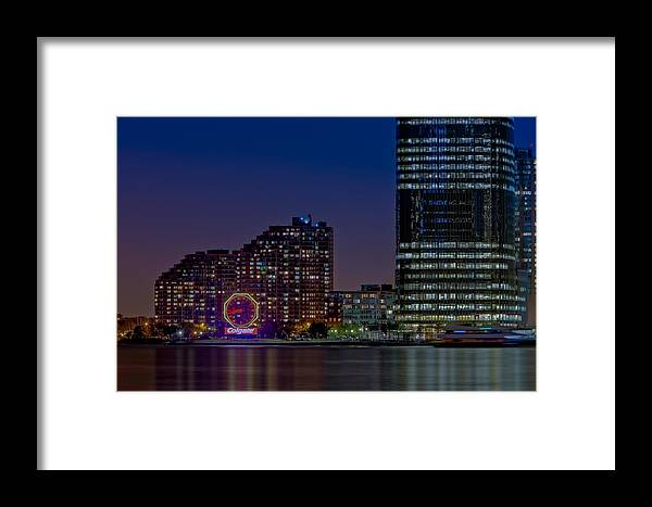 Colgate Clock Framed Print featuring the photograph Colgate Clock Exchange Place by Susan Candelario