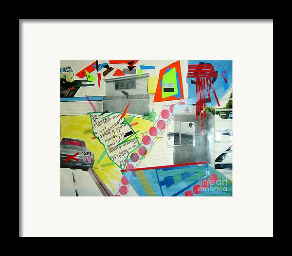 444 Framed Print featuring the drawing Collage 444 by Bruce Stanfield