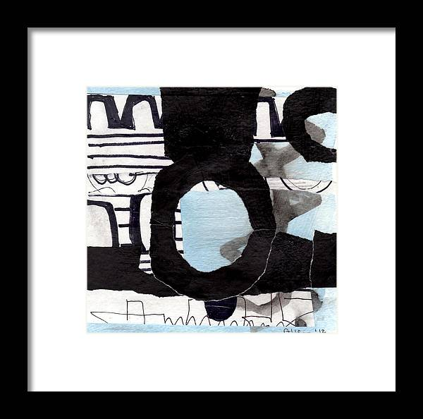 Abstract Framed Print featuring the mixed media Collage Drawing One by Richard Allen