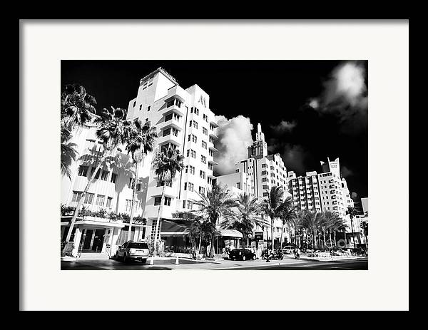 Collins Avenue Framed Print featuring the photograph Collins Avenue by John Rizzuto
