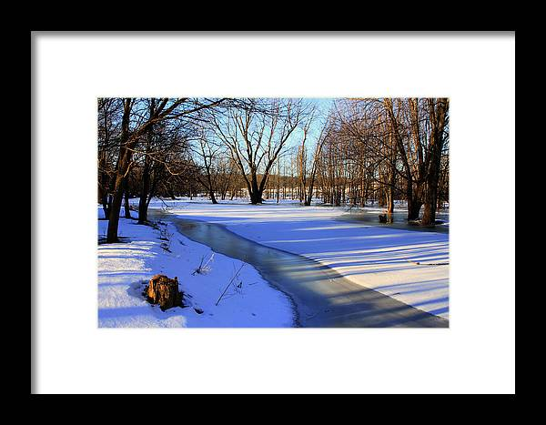 Winter Framed Print featuring the photograph Collins Creek In Winter by Jim Vance