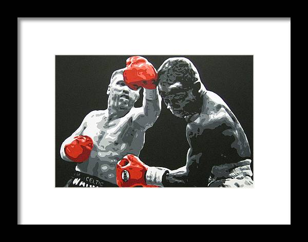 Collins Framed Print featuring the painting Collins V Eubank 1 by Geo Thomson