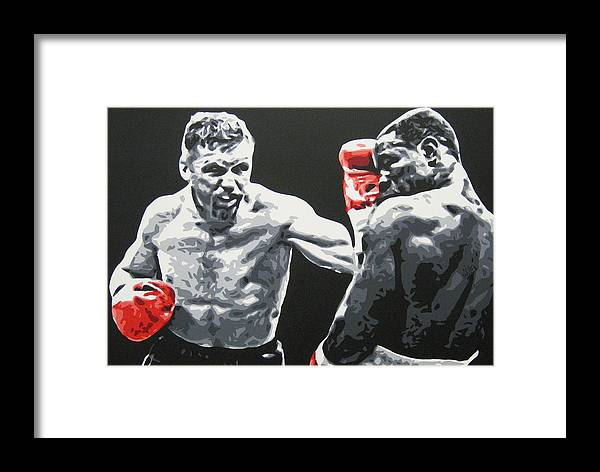 Collins Framed Print featuring the painting Collins V Eubank 2 by Geo Thomson