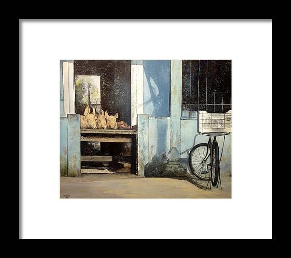 Colmado Framed Print featuring the painting Colmado-Havana by Tomas Castano