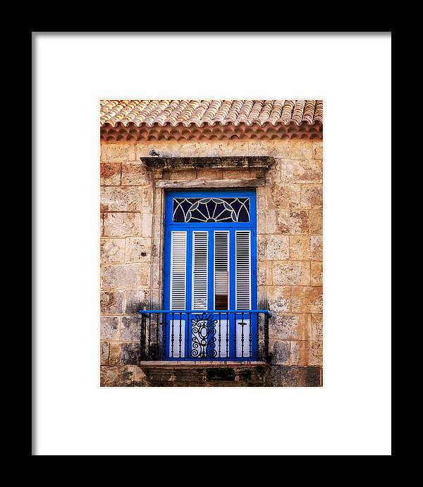Cuba Framed Print featuring the photograph Colonial Balcony by Levin Rodriguez