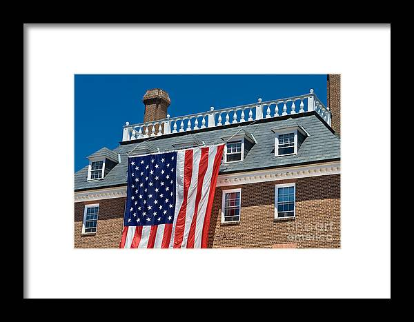Balustrade Framed Print featuring the photograph Colonial Building by Jim Pruitt