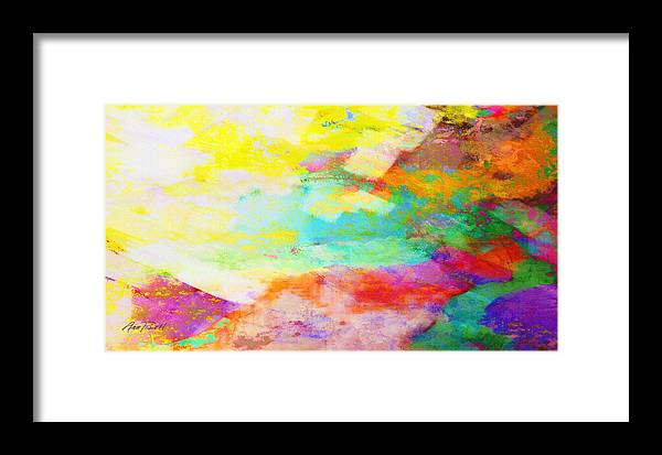 Abstract Framed Print featuring the mixed media Color Burst Abstract Art by Ann Powell
