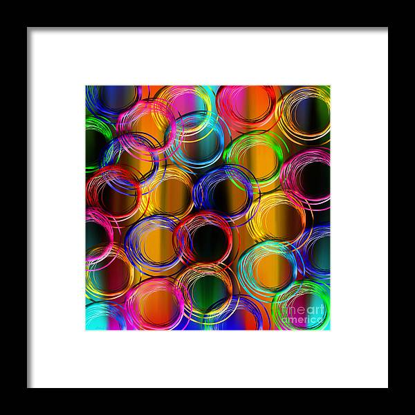 Abstract Framed Print featuring the mixed media Color Frenzy 5 by Andee Design