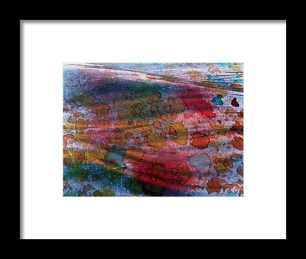 Abstract In Oil Framed Print featuring the painting Color In Motion by Linda Gonzalez
