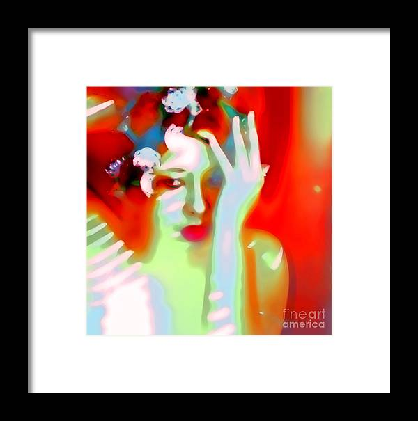Abstract Emotive Framed Print featuring the photograph Color Me Blue by Jessica Shelton
