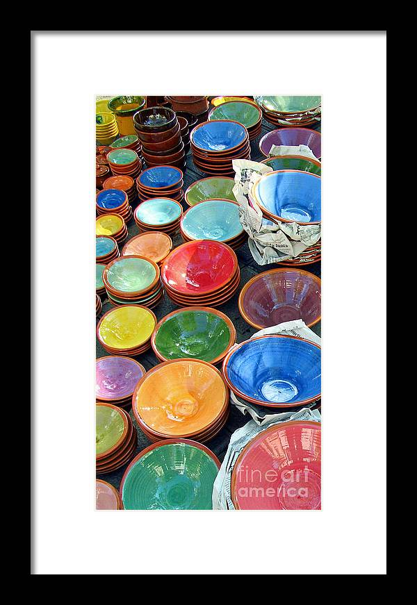 Bowl Framed Print featuring the photograph Color My Bowl With Love by Tina M Wenger