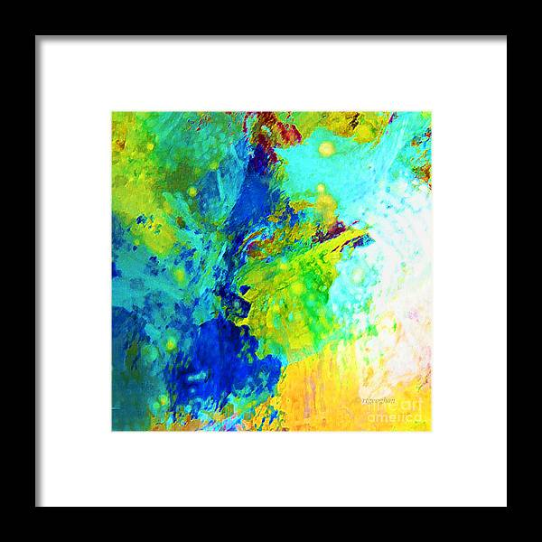 Abstract Framed Print featuring the photograph Color Wash Abstract by Regina Geoghan