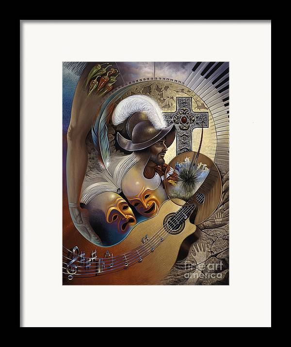 Culture Framed Print featuring the painting Color Y Cultura by Ricardo Chavez-Mendez