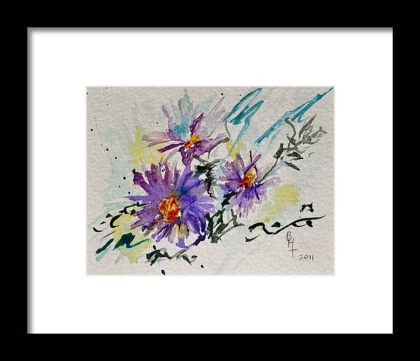 Aster Framed Print featuring the painting Colorado Asters by Beverley Harper Tinsley