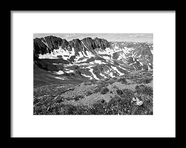 American Framed Print featuring the photograph Colorado Black And White by Aaron Spong