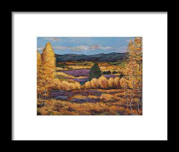 Autumn Aspen Framed Print featuring the painting Colorado by Johnathan Harris
