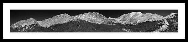 2012 Framed Print featuring the photograph Colorado Mummy Range by Josh Baker