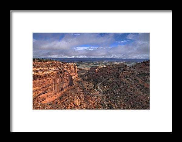 Landscape Framed Print featuring the photograph Colorado National Monument by Tom Winfield