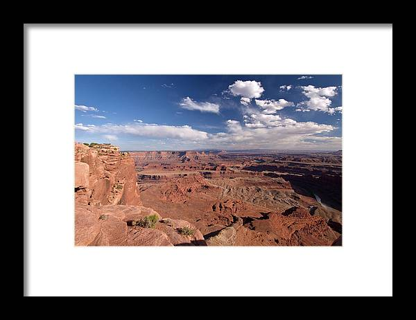 Scenics Framed Print featuring the photograph Colorado River Canyon From Dead Horse by John Elk