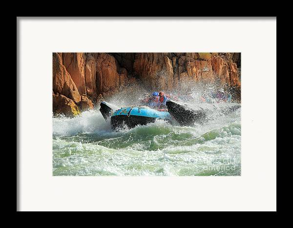 America Framed Print featuring the photograph Colorado River Rafters by Inge Johnsson