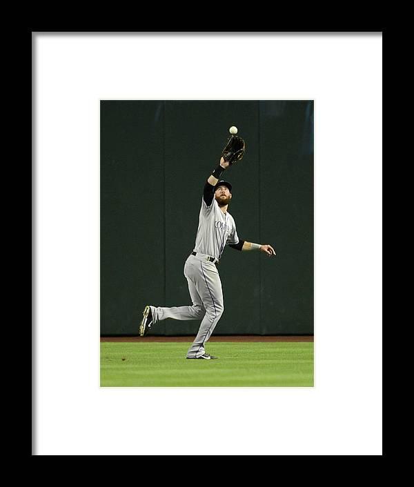 American League Baseball Framed Print featuring the photograph Colorado Rockies V Arizona Diamondbacks by Norm Hall