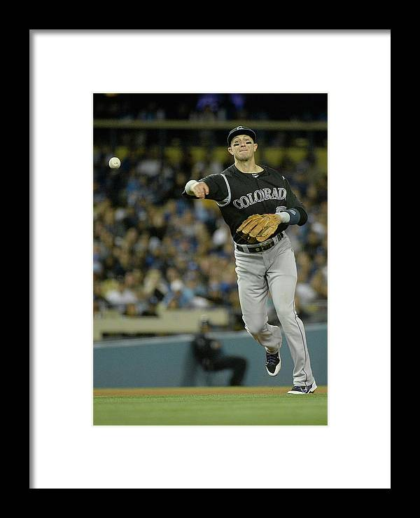 California Framed Print featuring the photograph Colorado Rockies V Los Angeles Dodgers by Harry How