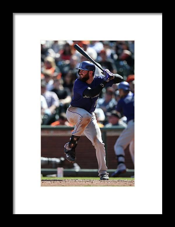 San Francisco Framed Print featuring the photograph Colorado Rockies V. San Francisco Giants by Brad Mangin
