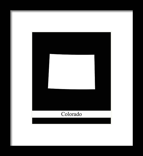 Colorado State Of Usa Map Vector Outline Illustration Black And ...