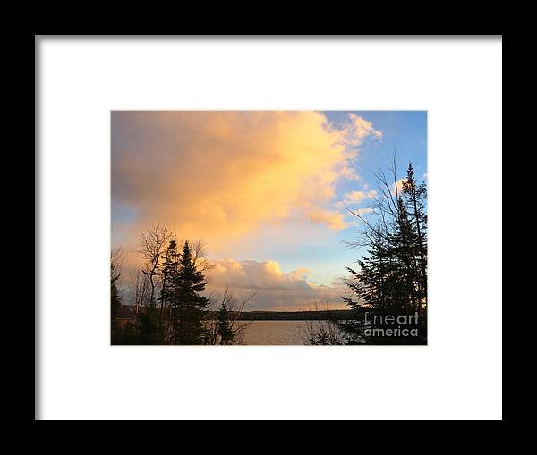 Sky Framed Print featuring the photograph Colored Clouds by Brenda Ketch
