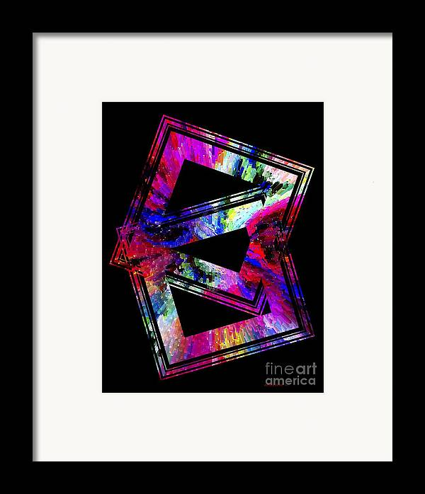 Colored Framed Print featuring the digital art Colored Geometric Art by Mario Perez