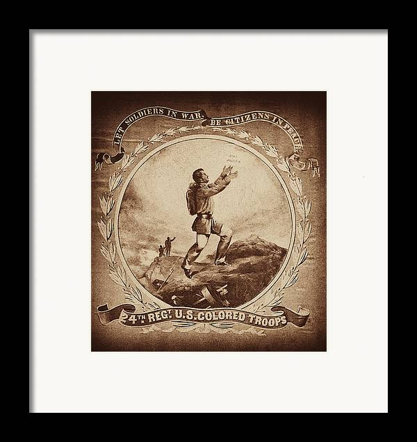 Civil War Framed Print featuring the photograph Colored Troop Recruiting by Paul W Faust - Impressions of Light
