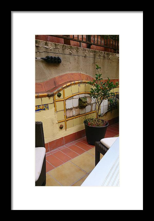 Colors Framed Print featuring the photograph Colorful Balcony by Moshe Harboun
