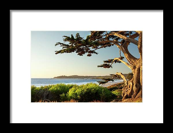 Scenics Framed Print featuring the photograph Colorful Beachfront In Carmel-by-the-sea by Pgiam