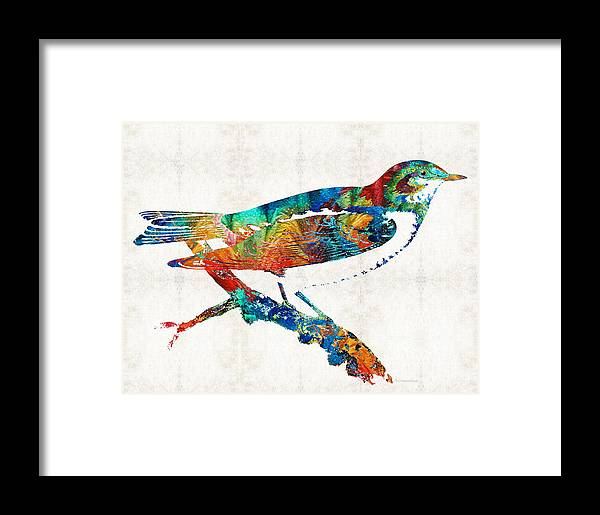 Colorful Bird Art - Sweet Song - By Sharon Cummings Framed Print by ...