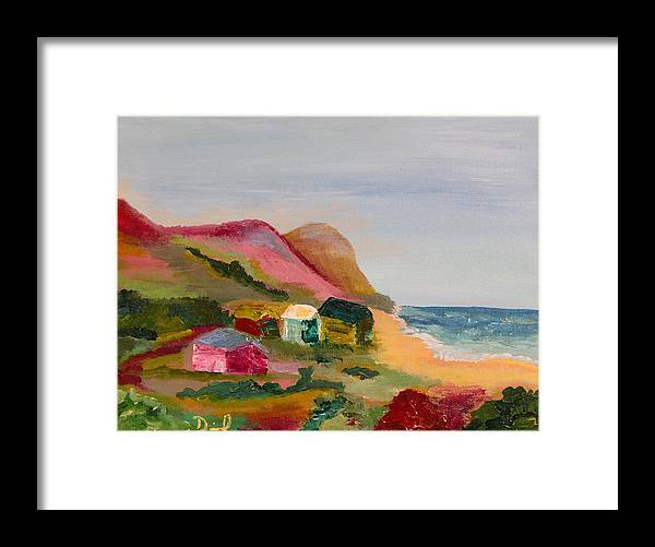Cambria Framed Print featuring the painting Colorful Cambria by David Sulsh