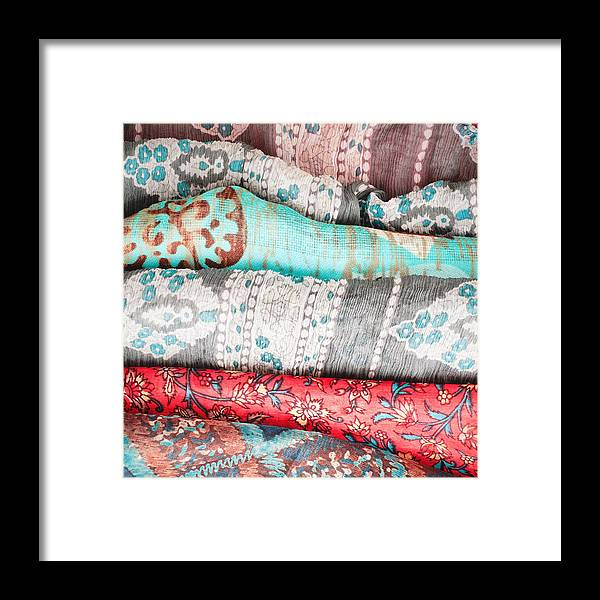 Africa Framed Print featuring the photograph Colorful Cloths by Tom Gowanlock