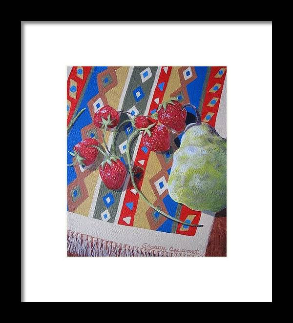 Fruit Framed Print featuring the painting Colorful Fruit by Sharon Casavant