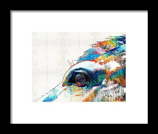 Colorful Horse Art - A Gentle Sol - Sharon Cummings Framed Print by ...