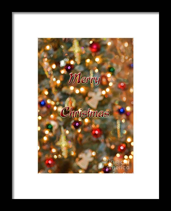 Holiday Framed Print featuring the photograph Colorful Lights Christmas Card by Debbie Portwood