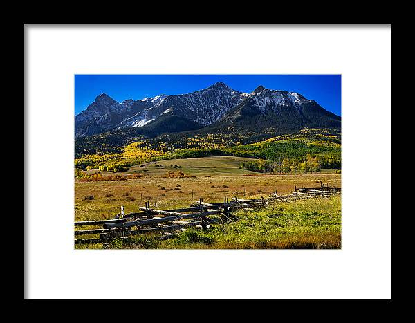 Colorful Landscape Framed Print featuring the photograph Colorful Ranch by Rendell B