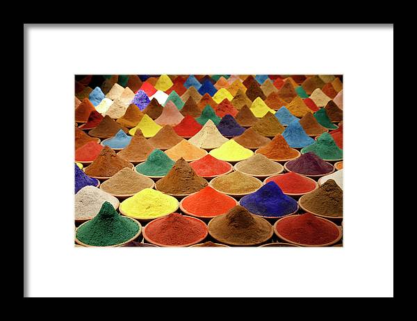 Heap Framed Print featuring the photograph Colorful Spices by Gabriele Kahal - Www.flickr.com/photos/gabrielekahal