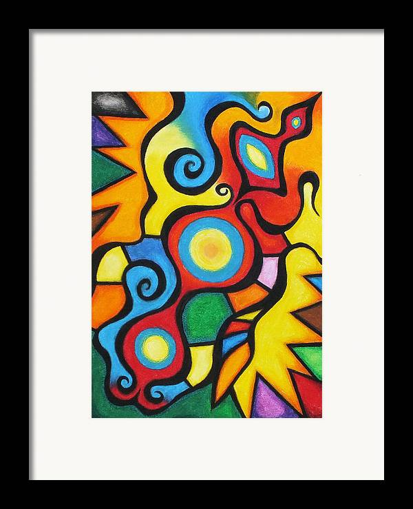 Pastel Chalk Framed Print featuring the pastel Colorful by Sven Fischer