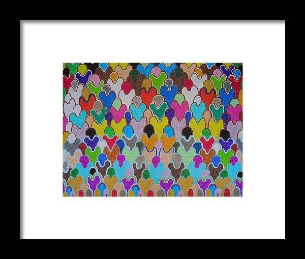 Artists With Autism Framed Print featuring the pastel Colors by Justin Watts