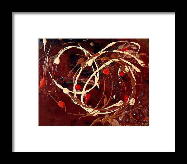 Autumn Framed Print featuring the painting Colors Of Autumn by Holly Picano
