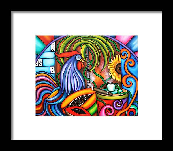 Cuba Framed Print featuring the painting Colors Of My World by Annie Maxwell