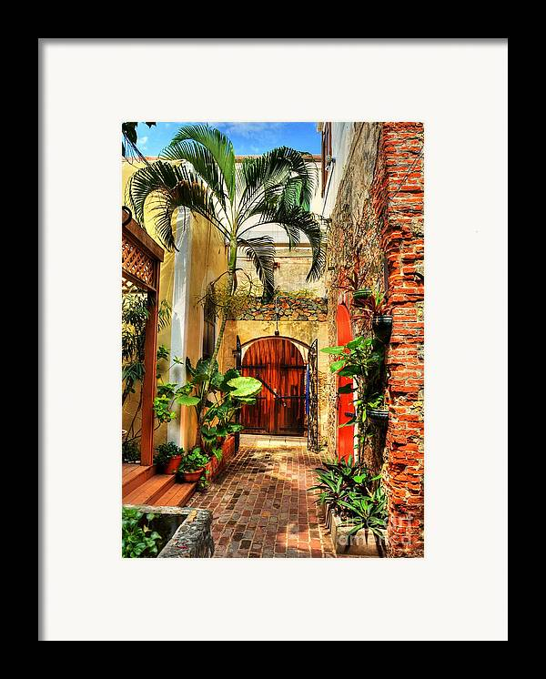 Colors Of Saint Thomas Framed Print featuring the photograph Colors Of Saint Thomas 1 by Mel Steinhauer
