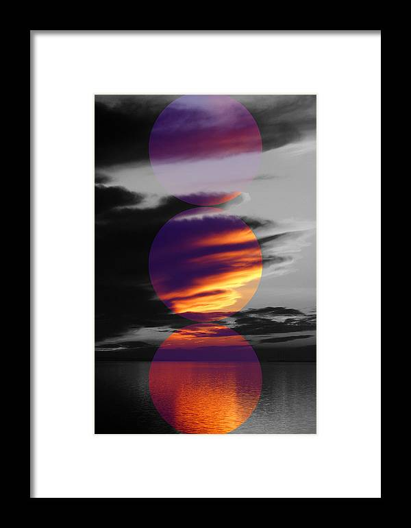 Colour Framed Print featuring the photograph Colour Circles by Rene Larsen