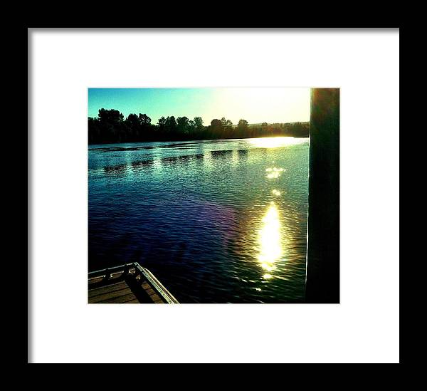 Willamette River Framed Print featuring the photograph Coloured by Chris Dunn