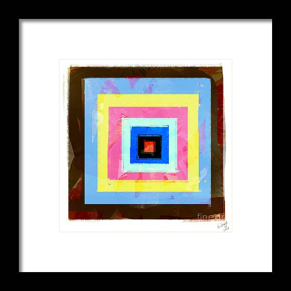 Abstract Framed Print featuring the digital art Coloured Squares Number 1 by George Sneyd