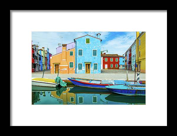 Tranquility Framed Print featuring the photograph Colourful Burano by Federica Gentile
